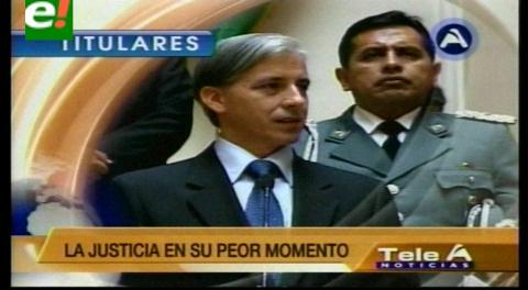 Titulares de TV: Vicepresidente afirmó que la corrupción en la justicia es abominable