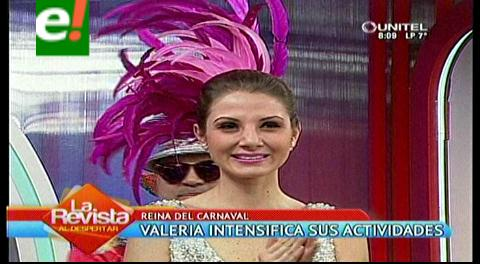 Valeria I intensifica su agenda carnavalera