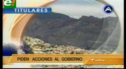 Titulares de TV: Masiva marcha se registró en La Paz condenando la corrupción en el poder judicial