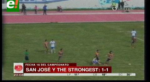 The Strongest empata con San José 1-1