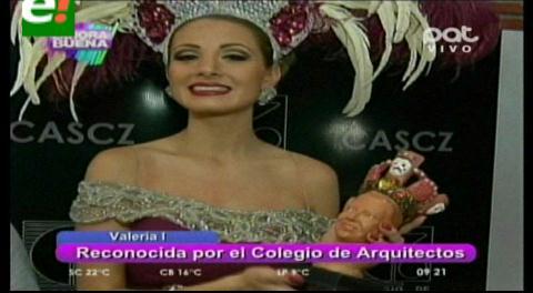 Valeria Saucedo recibe reconocimiento de Incerpaz