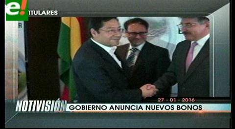 Titulares de TV: Gobierno anuncia nuevos bonos