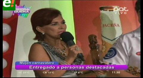 Personalidades cruceñas fueron reconocidas con el «Mojón Carnavalero»