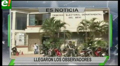 Titulares de TV: Llegaron observadores de Unasur, estarán en diferentes departamentos del país