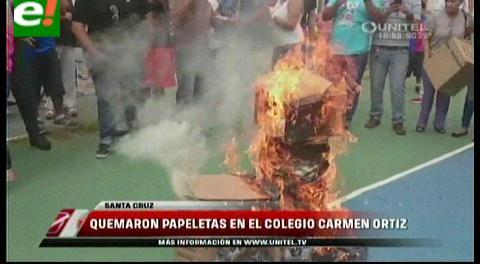 El 6 de marzo repetirán la votación en recintos que no se abrieron hasta las 10h00; gente quema ánforas