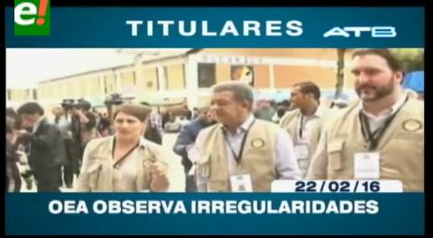 Titulares de TV: OEA observa irregularidades en la votación del referendo