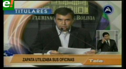 Titulares de TV: Opositores piden la renuncia del ministro Quintana