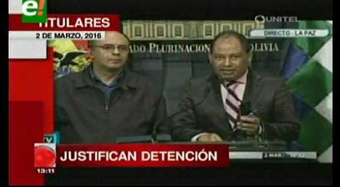 Titulares de TV: Ministros de Defensa y de Gobierno justifican detención de Guadalupe Cárdenas