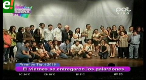 Premios Tiqui reconoció lo mejor del teatro 2015