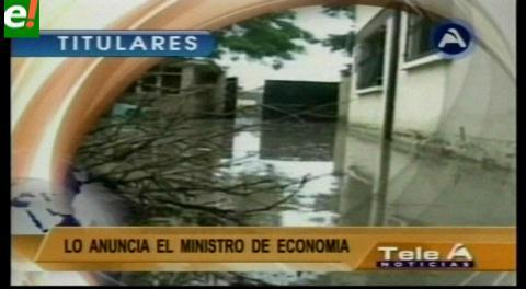 Titulares de TV: Fenómenos El Niño y La Niña afectan el crecimiento económico en Bolivia y no se podría pagar el doble aguinaldo
