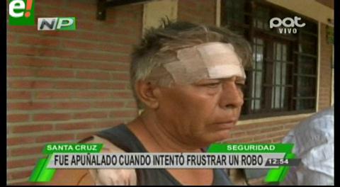Hombre fue apuñalado cuando intentó frustrar un robo