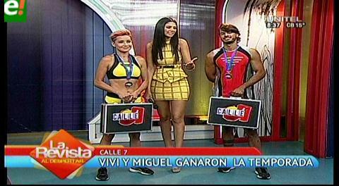Vivi y Miguel campeones de la 5ta temporada de Calle 7