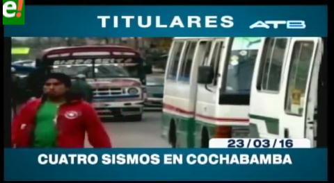 Titulares de TV: Se registraron 4 sismos en Cochabamba