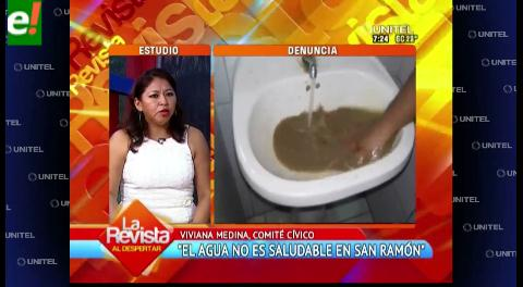 San Ramón denuncia que el agua que consumen es contaminada
