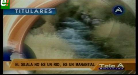 Titulares de TV: Evo dice que concesión de aguas del Silala no puede ser eterna