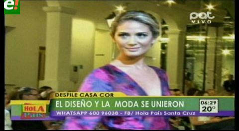 Casa Cor Bolivia mostró las colecciones de Roxana Sittic y Diego Vaz
