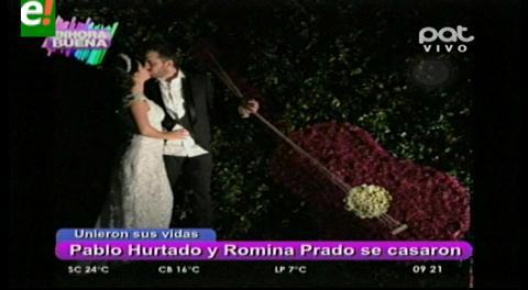 Romina Prado y Pablo Hurtado se casaron por lo religioso