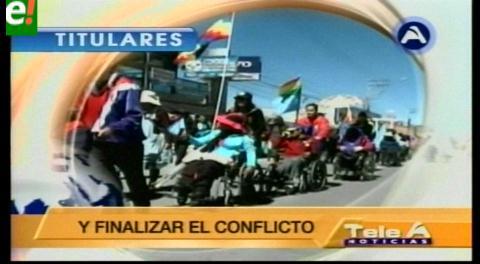 Titulares de TV: Varios sectores piden al Gobierno instalar mesa de diálogo con la marcha de los discapacitados