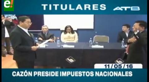 Titulares de TV: Posesionan a Mario Cazón como nuevo presidente del SIN