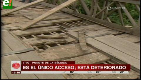 Puente deteriorado de Colpa Bélgica lleva 30 años sin mantenimiento