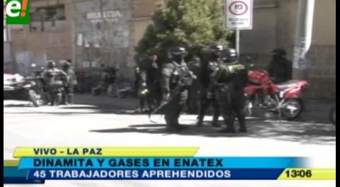 Al menos 45 personas detenidas y 3 heridos tras enfrentamiento entre trabajadores de Enatex y policías