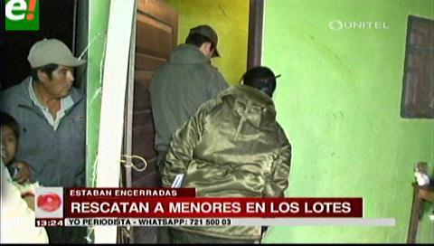 Policía rescata a menores que estaban encerrados en una casa en Los Lotes