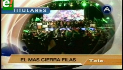 Titulares de TV: MAS no descarta medida legislativa para viabilizar posible reelección del Presidente