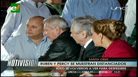 Entrega de la avenida G-77: Rubén y Percy se mostraron distanciados