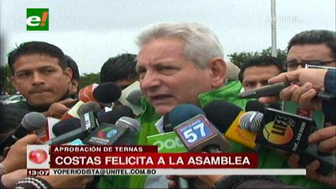 Rubén Costas felicita a la ALD por aprobar las ternas electorales