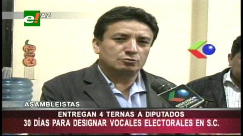 Ante la Cámara de Diputados: Asamblea de Santa Cruz presenta ternas para vocales electorales