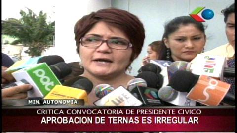 """Ministra de Autonomías: """"La elección de ternas en Santa Cruz tuvo varias irregularidades"""""""