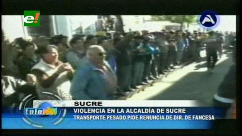 Sucesión de movilizaciones congestionan el tráfico vehicular en el centro de Sucre