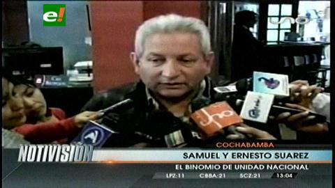 Costas declina su candidatura y apoya al binomio Samuel y Ernesto