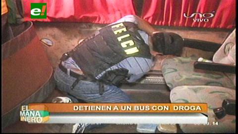 Santa Cruz: Felcn detiene un bus con cocaína