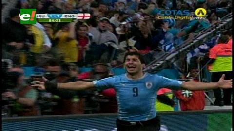 Luis Suárez le da el triunfo a Uruguay 2-1 ante Inglaterra