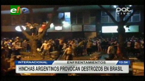 Incidentes entre hinchas brasileños y argentinos en Belo Horizonte
