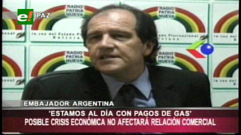 Argentina asegura que no tiene deuda acumulada con Bolivia por compra de gas natural