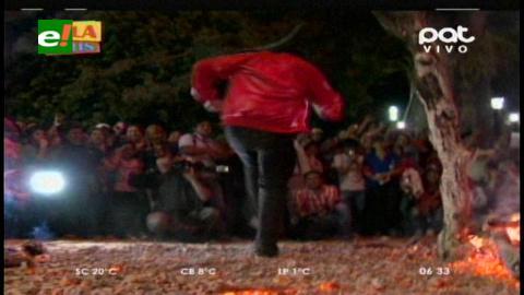 Santa Cruz: Devotos de San Juan Bautista pisaron las brasas en Porongo