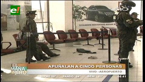 Sujeto apuñala al menos a siete personas en el Aeropuerto de El Alto