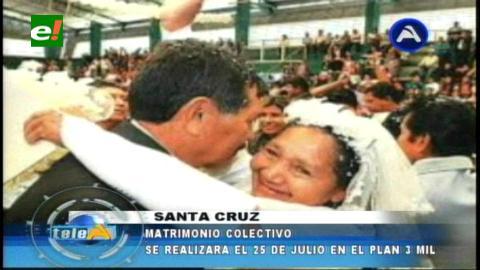 El 25 de julio se realizará los matrimonios colectivos