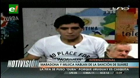 Maradona y Mujica apoyan a Suárez y cuestionan sanción de FIFA