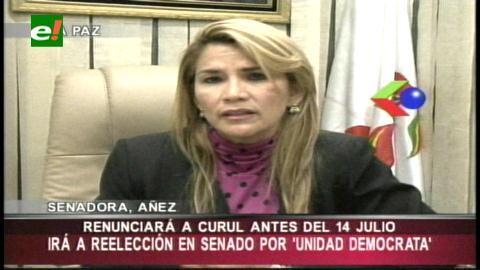 Jeanine Añez anuncia su reelección al Senado Nacional