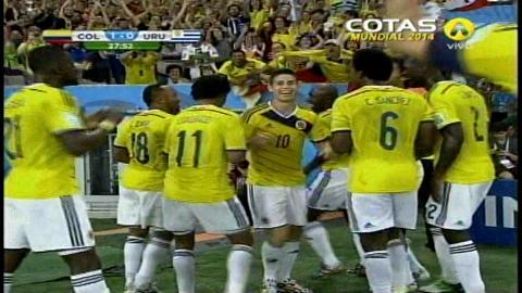 Colombia pasa va a cuartos, le ganó a Uruguay por 2-0