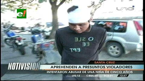 Santa Cruz: Felcc aprehende a dos presuntos violadores