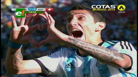 Argentina sufrió para ganar 1-0 a Suiza y avanzó a cuartos