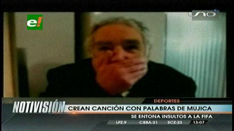 Crean canción sobre los dichos de Mujica contra la FIFA
