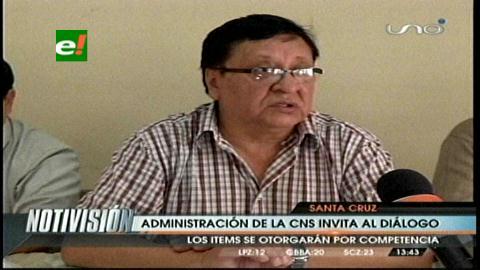 Santa Cruz: Director de la CNS llama al diálogo a los huelguistas