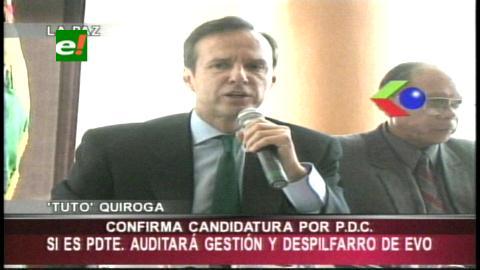 Tuto confirma candidatura y dice que no industrializará coca del Chapare