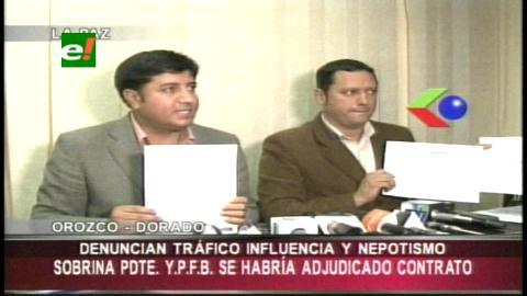 Convergencia denuncia hecho de nepotismo en la firma de un contrato por bs 300.000 en YPFB