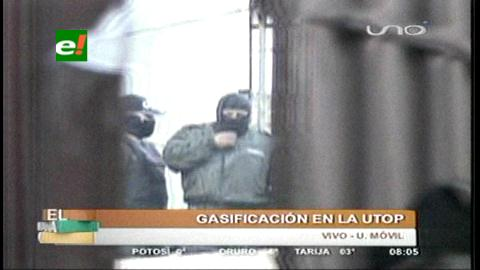 Policías de bajo rango se amotinan en la ciudad de La Paz